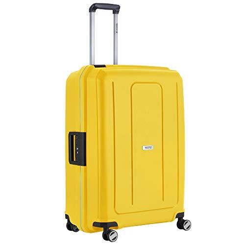 TravelZ Maleta de viaje Locker – TSA 75 cm rígida – Maleta grande – Candado de tres puntos – ruedas dobles