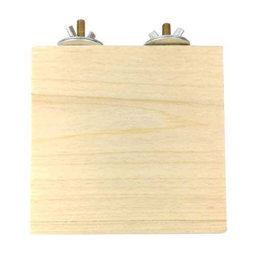 POPETPOP - Lote de 2 plataformas de madera para jaula de hámster, plataforma de madera para chinchilla tevlin-gerbille, rat, chinchilla, plataforma para jaula de pájaros