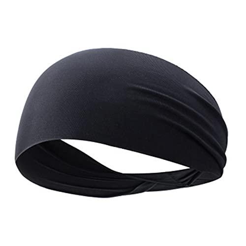 PPLAX Yoga Stirnband Elastic Yoga Stirnband Sport Armband Laufende Sport Haarband Stirnband Outdoor Fitness Sport Armband Sport Fitness Bandage (Color : Black)