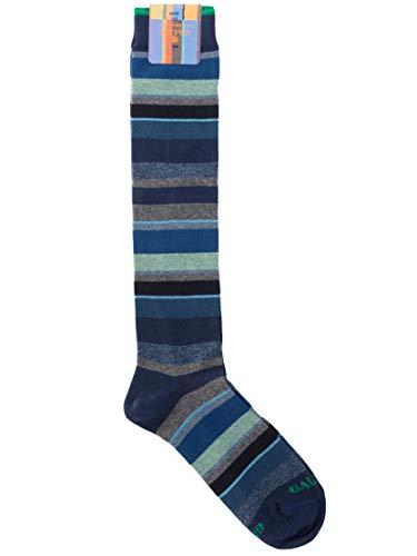 Gallo - Calza uomo in cotone elasticizzato fantasia Multicolor (ROYAL/LAGO, 40-45)