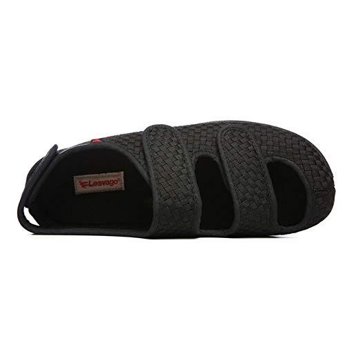 Nwarmsouth Unisex Erwachsene Gesundheits Schuh,Diabetische Fußschuhe für ältere Menschen, verstellbare und verbreiterte Fußschuhe-41_ Kaffee,Gesundheitsschuh für Senioren und Diabetiker