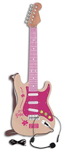 Bontempi 24 1371 1310-Elektronische Gitarre Rock, Rosa