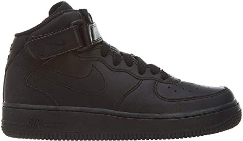 Nike Air Force 1 Mid (GS), Scarpe da Basket Bambino, Nero (Black 004_Black), 36.5 EU