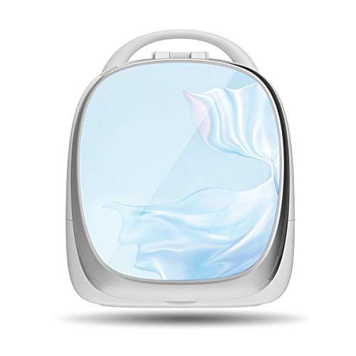 PsgWXL Boîtes de Rangement Cosmetic avec Miroirs à LED Rotatif de 180 Degrés Réglage D'Éclairage Smart Portable pour Salle de Bain WC Chambre Face Pivotant,Bleu,Standard Version