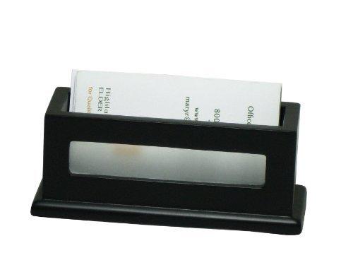 Victor Midnight Black Business Card Holder, 1.8' x 4.3' x 1.6'