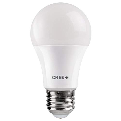 Cree 60W Equivalent Daylight (5000K) A19 Dimmable Exceptional Light Quality LED Light Bulb (2-Pack)