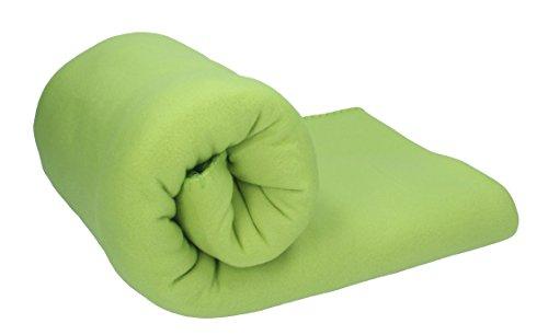 Betz Fleecedecke Kuscheldecke Größe 130x170 cm Farbe hell grün