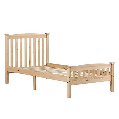 Vertical Bar Bed Varnish Twin for Superior Comfort & Durability