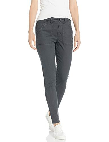 Amazon Brand - Daily Ritual Women s Stretch Twill High-Rise Utility Pant, Dark Grey 4