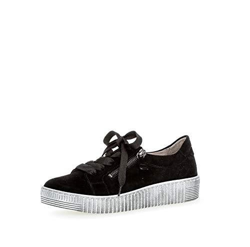 Gabor Mujer Zapatillas, señora Bajo,Calzado bajo,Calzado de Calle,Calzado Deportivo,Ocio,Schwarz (Smoky),39 EU / 6 UK