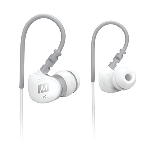 MEE audio Earphone-M6-WT-MEE  Sport-Fi M6 Noise Isolating In-Ear Headphones with Memory Wire (White)