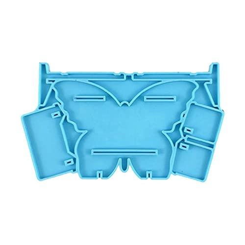 Wubxbvvx Soporte de almacenamiento de joyería de mariposa de resina epoxi molde de exhibición de molde de silicona Soporte de almacenamiento de joyería de mariposa Molde de resina epoxi