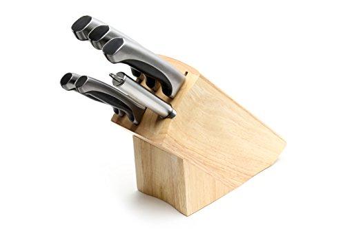 Set di 6 Coltelli da Cucina in Acciaio Inox 5Cr15Mov Ad...
