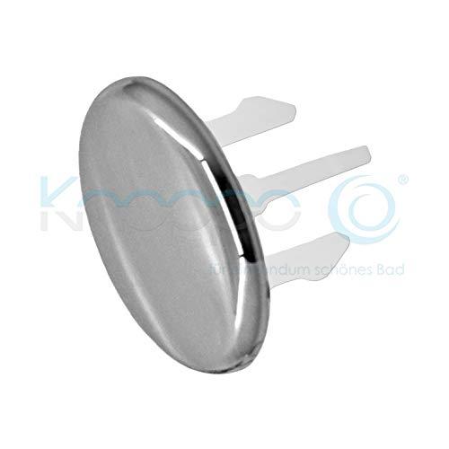 KNOPPO 3er Set Waschbecken Überlauf Abdeckung, Überlaufblenden - Cap (chrom)
