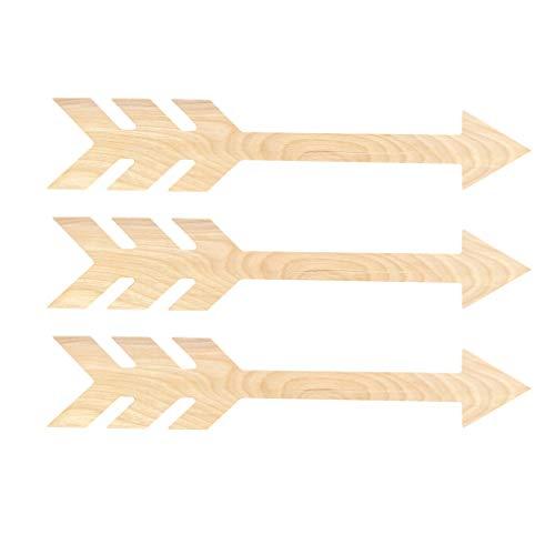 Rustic Arrows Set of 3 Wooden Arrow Wall Decor - Decorative Arrow Set of 3 by SP Engraving Specialties