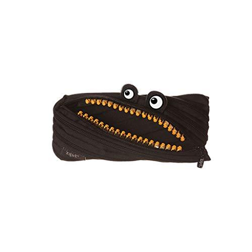 Astuccio Creativo Design Pattern Zipper cassa di matita Daikin cancelleria sacchetto dell'allievo di scuola del bambino Forniture Bag L'astuccio di grande capacità (Color : Black)