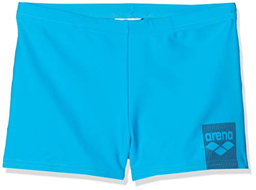 ARENA Jungen Badehose Jungen Badeshorts Basics, Turquoise-Navy, 140, 002368
