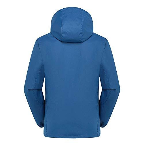 WAY Ski Jacke ademende 2-delige jas 3-in-1 fleece ski-pak heren pailletten - blauw voor mannen 3*L Pauw Blauw