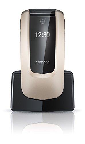 Emporia COMFORT 2.4' 92g Champán - Teléfono móvil (Flip, SIM única, 6,1 cm (2.4'), 2 MP, 1020 mAh, Champán)