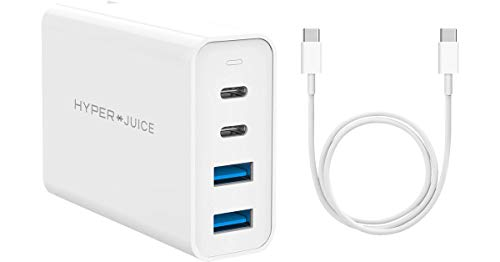 Sanho HyperJuice - Caricabatterie 100 W GaN 4 porte e cavo USB-C a USB-C