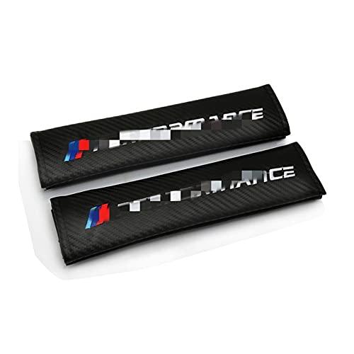 PiLiHuo Cubiertas de cinturón de Seguridad de automóviles Bordado de cinturón Estilo/Ajuste para -B-M-W M M2 M3 M4 M5 M6X 320I X1 x3 x4 x5 x6 /