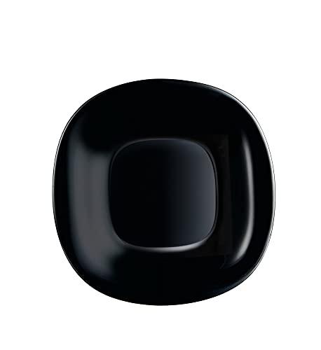 Luminarc P1871 - Plato de postre (6 unidades, cristal), color negro