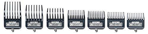 Price comparison product image Andis Master Series Premium Metal Hair Clipper Attachment Comb 7 Piece Set,  33645