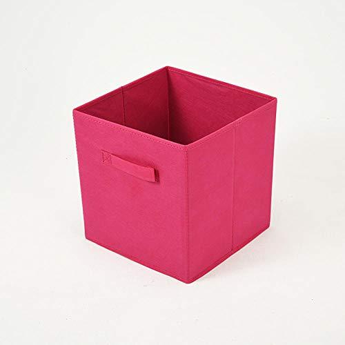 DLSM Artículos Diversos de Escritorio para Dormitorio Caja de Almacenamiento Plegable no Tejida Caja de Almacenamiento de cajón de Tela de Juguete para Ropa-Rojo (Juego de 6 Piezas)