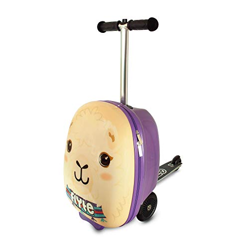 Flyte Unisex-Youth Luca the Llama Scooter Suitcase, Purple, 18-Inch