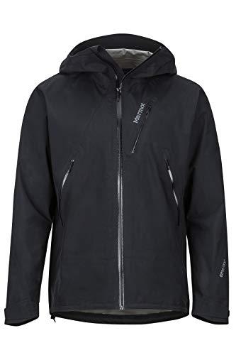 Marmot Herren Knife Edge Hardshell Regenjacke, Winddicht, Wasserdicht, Atmungsaktiv, Black, M