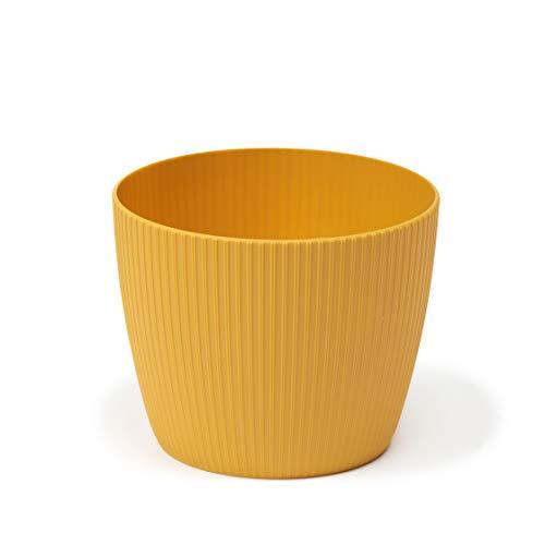 Lamela - Macetero para hierbas, maceta, magnolia, polvo, soporte para alféizar de ventana, balcón, jardín, organizador, caja, decoración (190 mm de diámetro, altura 150 mm), color marrón