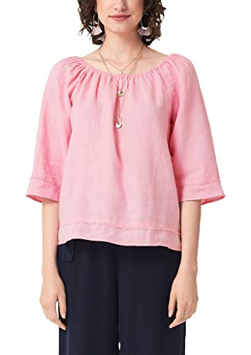 s.Oliver RED Label Damen Carmenbluse aus Leinen pink 42