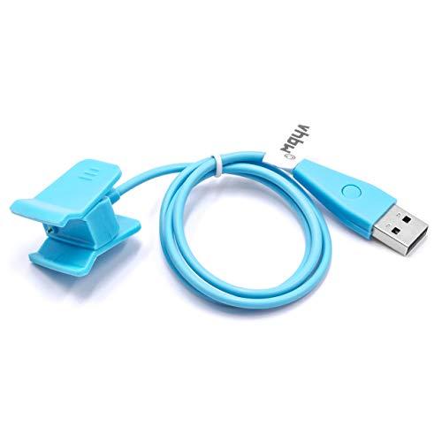 vhbw Ladekabel 55cm Ladestation passend für Fitbit Alta HR Smartwatch, Fitnesstracker blau mit Reset Funktion Ersatzkabel Datenkabel
