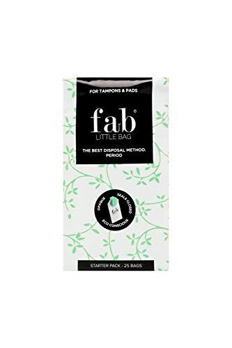 FabLittleBag Sanitärentsorgungsbeutel, 20 Stück, Starterpack, mit 8 Nachfüllpackungen