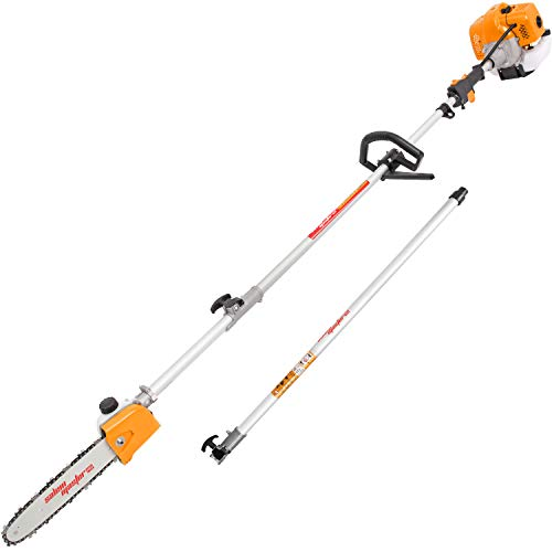SALEM MASTER Gas Pole Saw 42.7CC 11 Foot 2-Cycle Cutting Machine Gasoline Powered Tree Trimmer with Carry Bag CG430MF-3