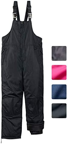 CHEROKEE Boys Girls Insulated Snow Bib Ski Pants Black 6X 7 product image