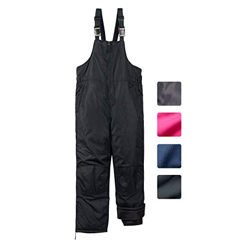 CHEROKEE Toddler Boys & Girls Insulated Ski Snowbib Pants, Size 3T, Black