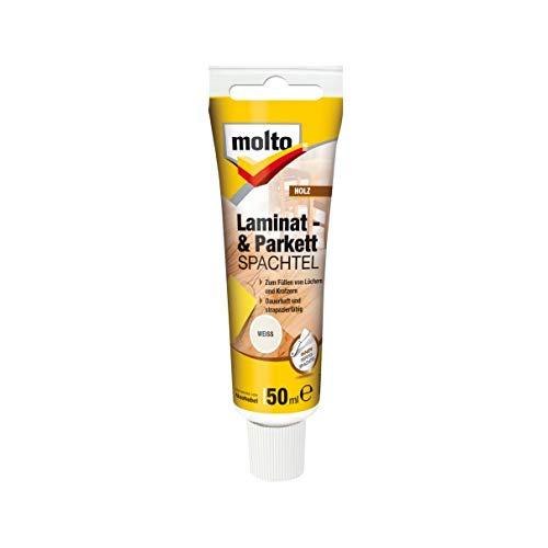 Molto LAMINAT+PARKETTSPACHTEL 50ml Fertigspachtel Spachtelmasse Holz Spachtel (Weiß)