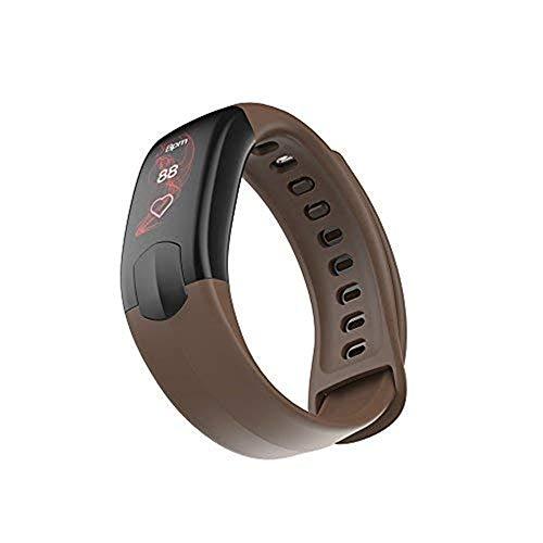Suney Sport Smart Watch, IP67 Living Wasserdichter Bluetooth-Aktivitäts Tracker mit Schlafmonitor/Herzfrequenzmonitor/Blut Druckmonitor Smart Wrist-kompatibles iOS iPhone Android - Kaffee