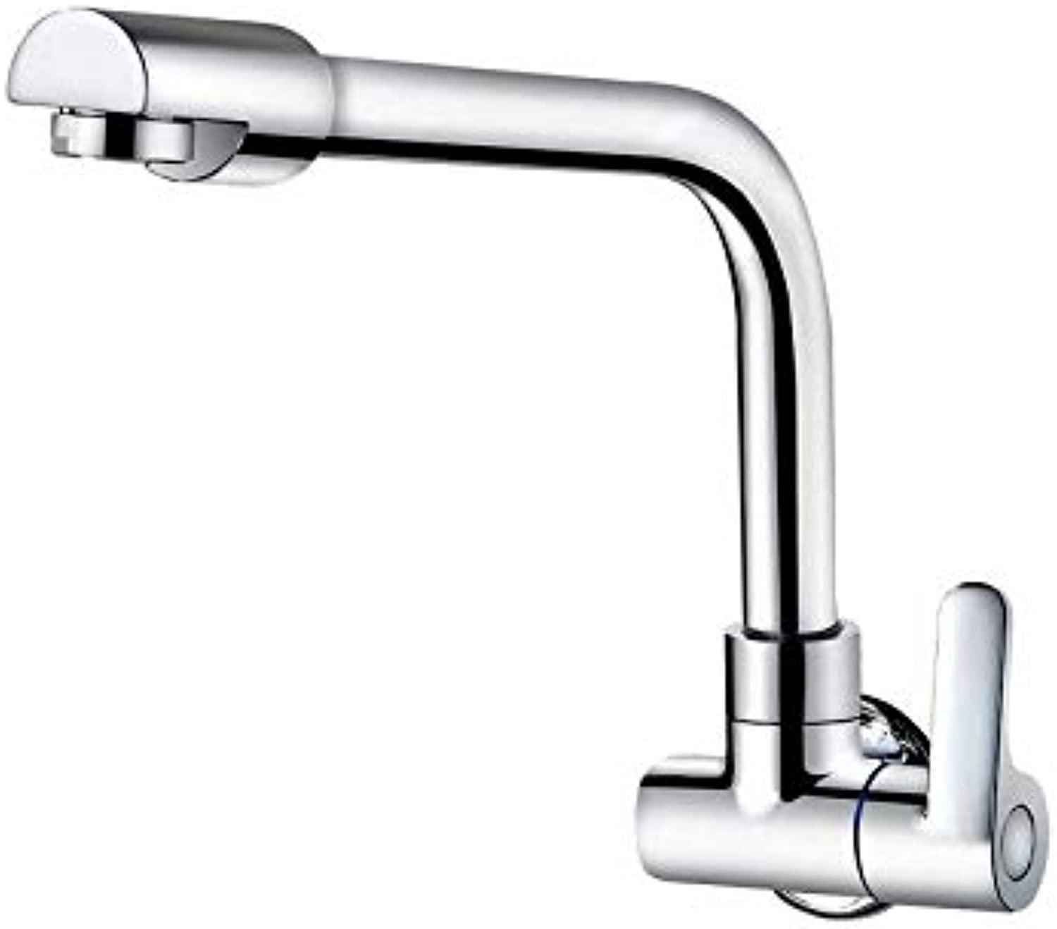 Water Tapfaucet Copper Body 360 Degree redation in-Wall Single Cold Kitchen Faucet Washbasin Mixer(17.5  20Cm) (Size   17.5  20Cm)