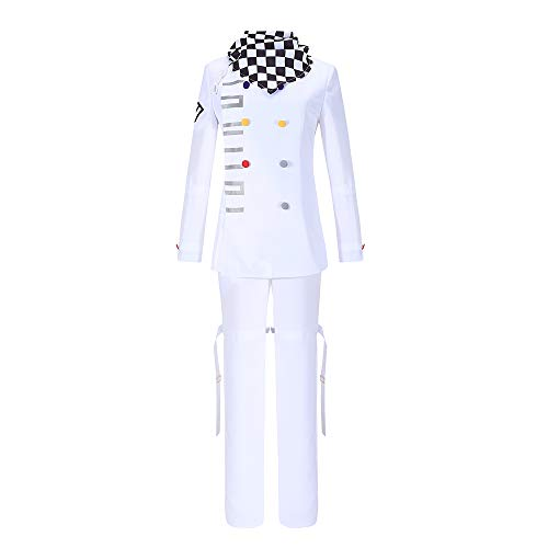 Cos-Love Danganronpa Cosplay V3 Ouma Kokichi Cosplay Costume White Uniform Halloween Fancy Dress Outfit Full Set