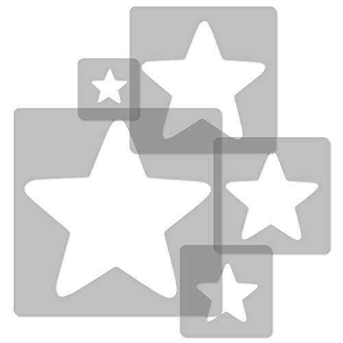 5 plantillas de plástico reutilizables // Estrella #2 // 34 x 34 cm a 9 x 9 cm // Decoración de habitaciones infantiles // Plantilla de guardería.