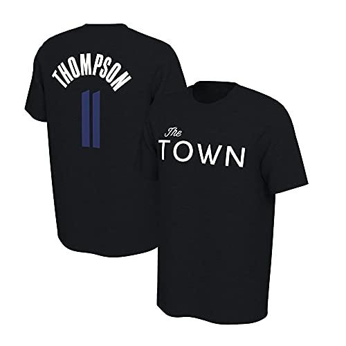 YZQ Camisetas para Hombre, Golden State Warriors # 11 Klay Thompson NBA Baloncesto Camisetas Casual Chalecos Deportivos Tops De Manga Corta,Negro,L(170~175CM)