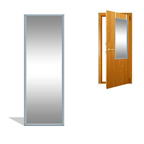 DRULINE Türspiegel Wandspiegel Garderobenspiegel Spiegel schrankspiegel Ankleidespiegel Dekoration Hängend | Schlafzimmer Wohnzimmer Badezimmer F0015070 |34cm x 94 cm x 1.5 cm | Grau