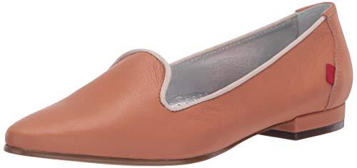 MARC JOSEPH NEW YORK Damen Luxus Flache Leder mit Raucher-Slipper Detail Loafer, Braun (Toast Nappa Soft), 41 EU
