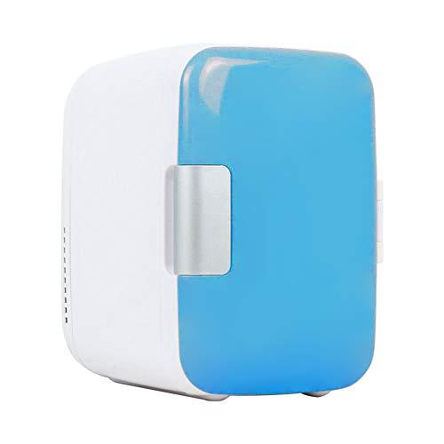 Artoct Mini-koelkast, 4 liter, 6 dozen, draagbare thermo-elektrische 12 V AC/DC-koeler en warmere vrieskast voor huidverzorging, levensmiddelen, medicijnen, huishouden en reizen