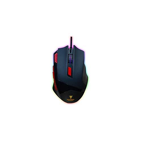 Berserker Gaming Maus mit Kabel, optisch, 9 Tasten, 3200 DPI, LED, Hintergrundbeleuchtung, VESETI-V1, Schwarz