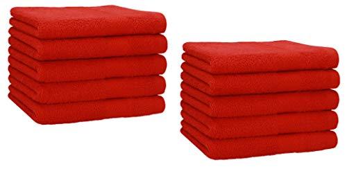 Betz Set di 10 Asciugamani per Ospiti 30x50 Premium 100% Cotone (Rosso)