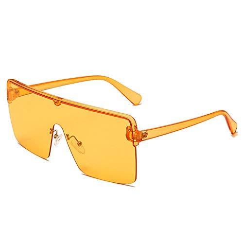 Gafas De Sol Hombre Mujeres Ciclismo Gafas De Sol Graduadas Cuadradas Sin Marco A La Moda para Mujer, Gafas De Sol con Tapa Plana con Espejo Rosa para Mujer Y Hombre-1-Mwj13091-C3