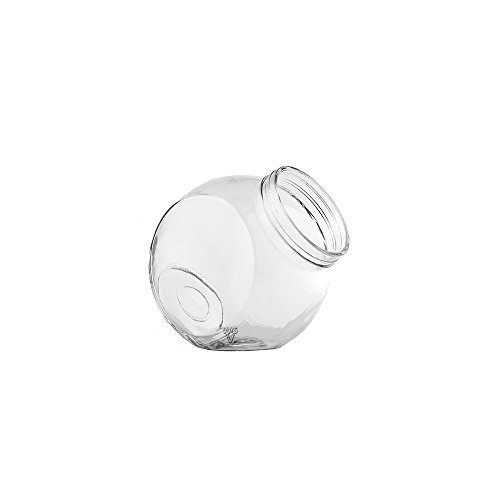 "WGV Small Glass Cookie Jar, 5"", Clear"